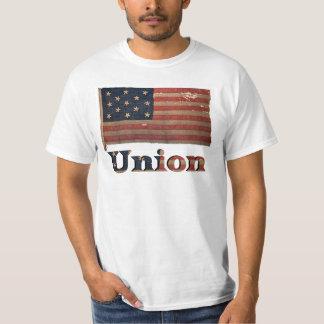 連合軍隊の内戦の動揺してで旧式な旗 Tシャツ