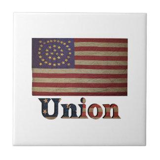 連合軍隊米国の内戦の旗 タイル