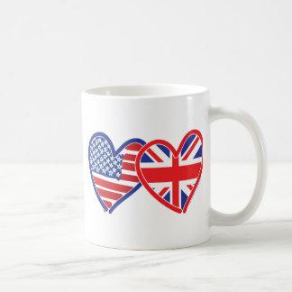 連合Jack/USA コーヒーマグカップ