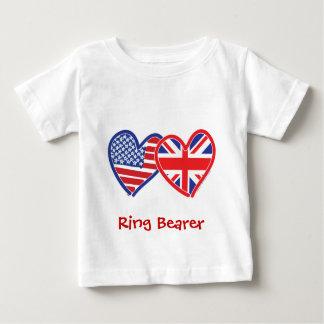 連合Jack/USA ベビーTシャツ