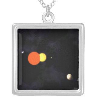 連星および4つの惑星が付いている太陽系 カスタムジュエリー