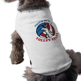 連発のラマのワイシャツがあること誇りを持ったな小犬 ペット服