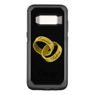 連結の結婚指輪-刻まれた名前をカスタムする オッターボックスコミューターSamsung GALAXY S8 ケース