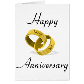 連結の結婚指輪-刻まれた名前をカスタムする カード
