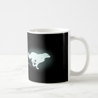 連続したオオカミ コーヒーマグカップ