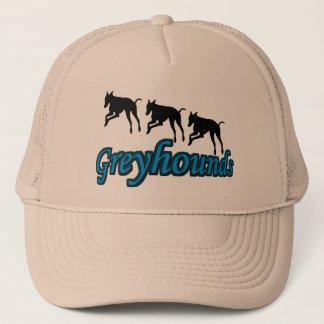 連続したグレイハウンド犬の帽子 キャップ