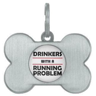 連続した問題の酒飲み ペットネームタグ