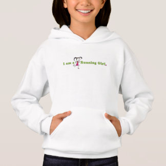 連続した女の子のフード付きスウェットシャツ