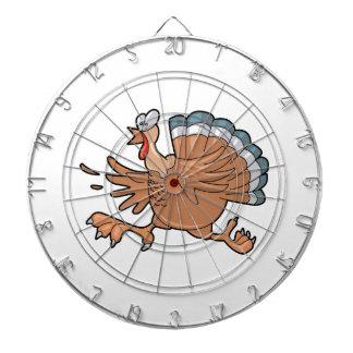 連続した感謝祭トルコ ダーツボード