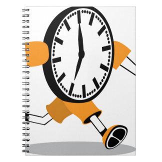 連続した時計 ノートブック