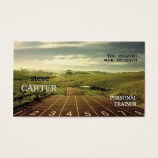 連続した運動競技のフィットネスのマラソンのトレーナーカード 名刺