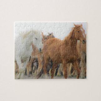 連続した馬のパズル ジグソーパズル