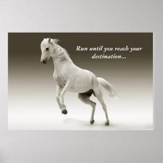 連続した馬ポスター ポスター