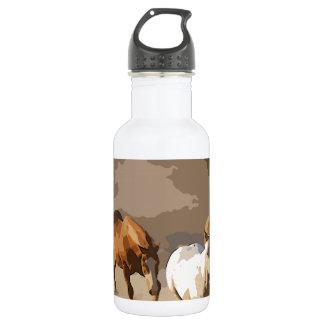 連続した馬 ウォーターボトル