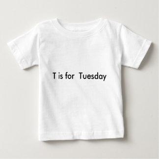 週のTシャツの幼児の手紙 ベビーTシャツ