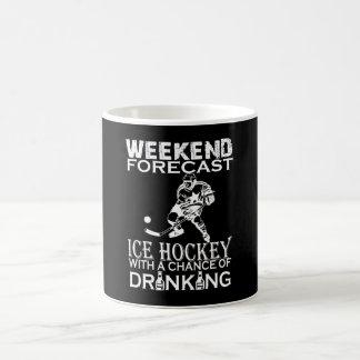 週末の予測のアイスホッケー コーヒーマグカップ