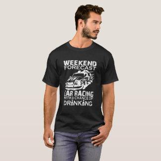 週末の予測のカーレース Tシャツ