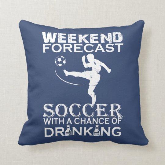 週末の予測のサッカー クッション