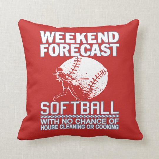 週末の予測のソフトボール クッション