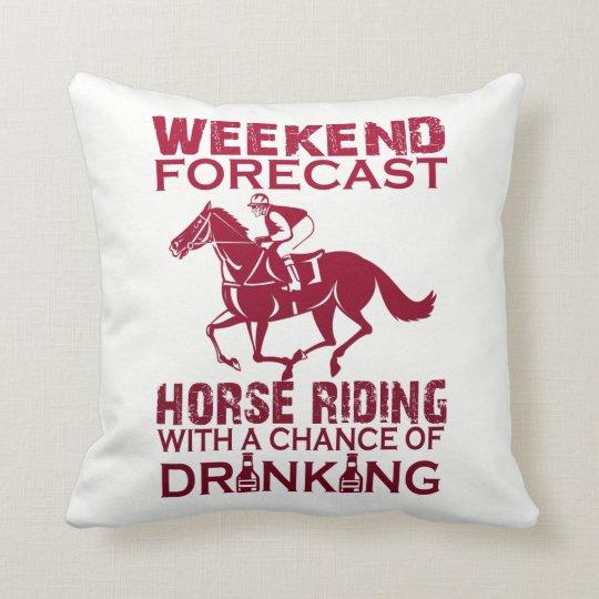 週末の予測の乗馬 クッション