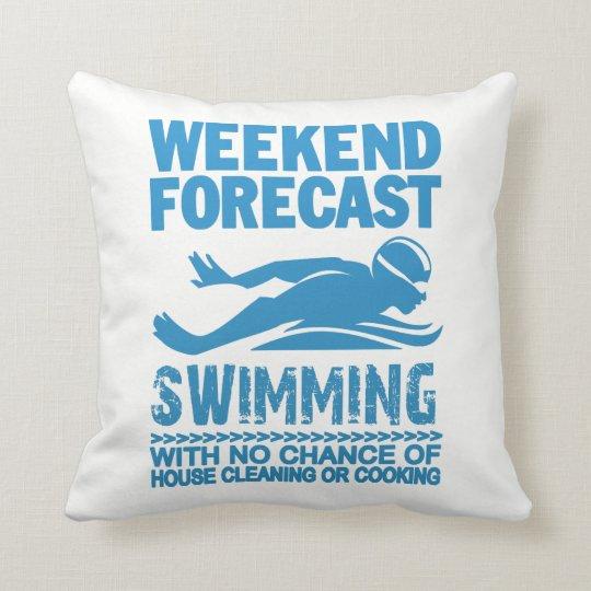週末の予測の水泳 クッション
