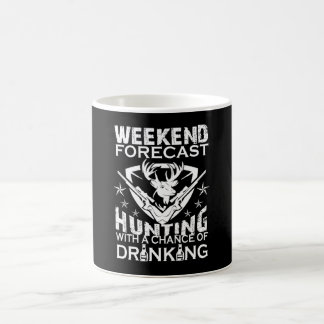 週末の予測の狩り コーヒーマグカップ