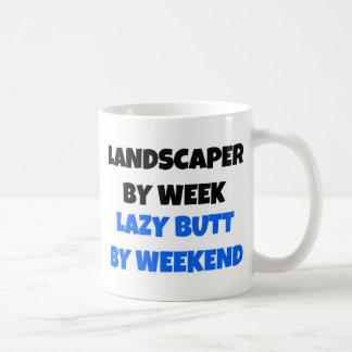 週末までに週の不精なお尻による庭師 コーヒーマグカップ