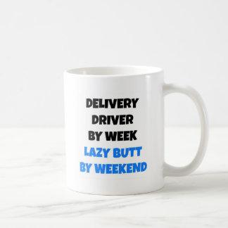 週末までに週の不精なお尻による配達運転者 コーヒーマグカップ