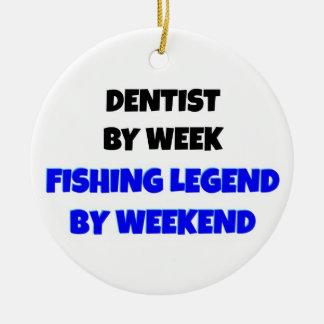 週末までに週の魚釣りの伝説による歯科医 セラミックオーナメント