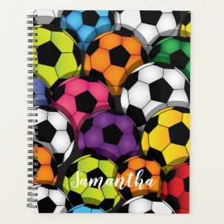 週間カラフルなサッカーボールか月例プランナー プランナー手帳