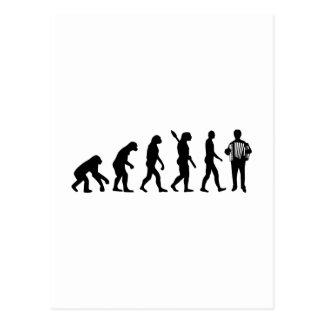 進化のアコーディオンプレーヤー ポストカード