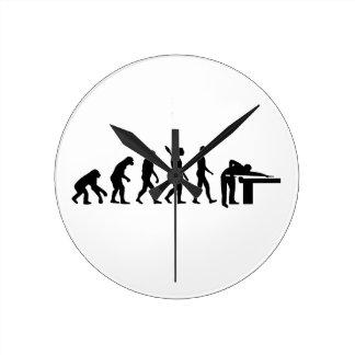 進化のビリヤード ラウンド壁時計