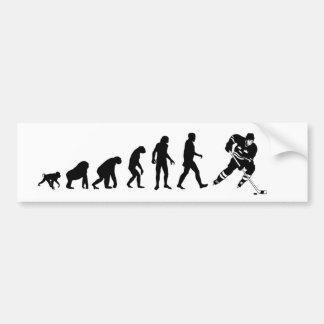 進化のホッケーのバンパーステッカー バンパーステッカー