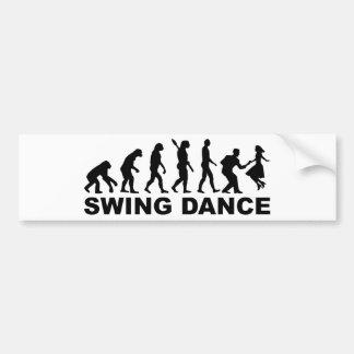 進化の振動ダンス バンパーステッカー