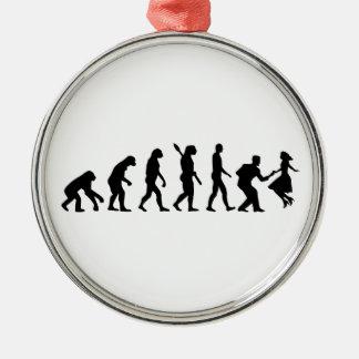 進化の振動ダンス メタルオーナメント