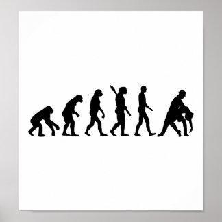 進化の踊りのカップル ポスター