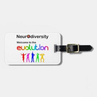 進化へのNeurodiversityの歓迎 ラゲッジタグ