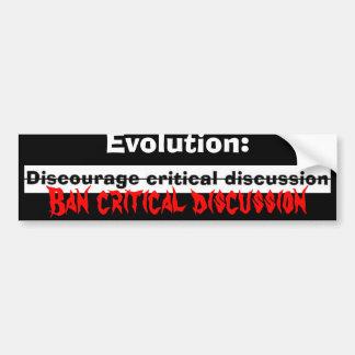 、進化落胆させて下さい: 、禁止の評論家… -カスタマイズ バンパーステッカー