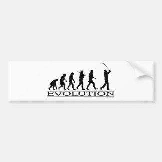 進化-ゴルフ-人 バンパーステッカー