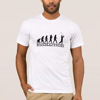 進化-ゴルフ-人 Tシャツ