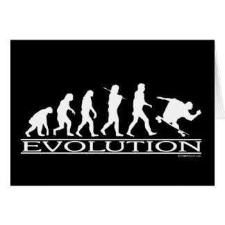進化-スケートボードをします-男性 グリーティングカード