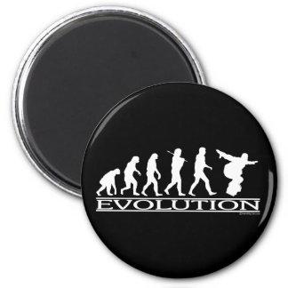 進化-スノーボード マグネット