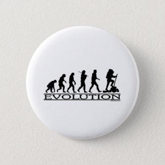 進化-ハイキングします 缶バッジ