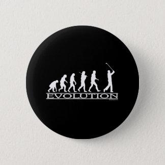 進化-人-ゴルフ 5.7CM 丸型バッジ