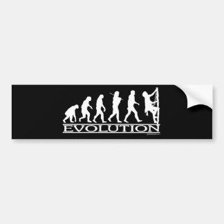 進化-登山 バンパーステッカー