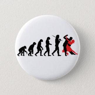 進化-踊り 5.7CM 丸型バッジ