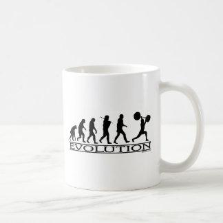 進化-重量挙げ選手 コーヒーマグカップ