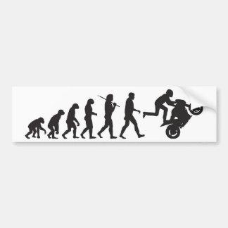 進化- Wheelie バンパーステッカー
