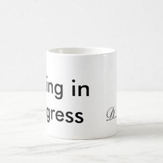 進行中の書くこと コーヒーマグカップ
