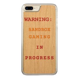 進行中の砂場の賭博 CARVED iPhone 8 PLUS/7 PLUS ケース